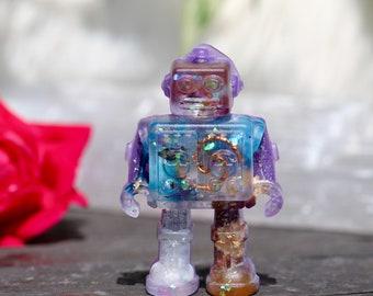Orgonite® - Robot - Kids Gift -Positive Energy - Handmade - Orgone Generator® - Crystals - Gift - EMF Protection - Quartz - HoodXHippie