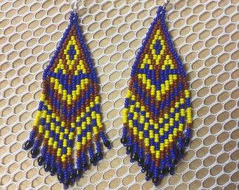 Earring maya art beads