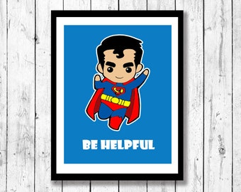 Superhero Inspired Wall Art Kid's room art, geek art,