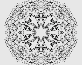 6 Printable Mandalas for Coloring and Home Decor - Instant Download - Print Ready