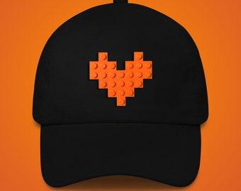 Black hat with orange LEGO® heart