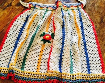 Vintage hand crocheted apron
