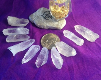 SPIRITUAL HEALING Quartz Crystal (photo shows examples of item size not item quantity) Protection Aura/Chakra/Meditation +Activated +Blessed