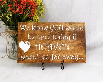 We Know You Would Be Here If Heaven Wasn't So Far Away Sign, Wedding Signs, Heaven Sign, Rememberance Sign, Ceremony Sign, Wedding Sign