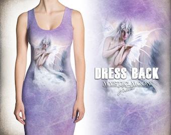 Winter Fairy Queen - Fairy Art - Homecoming Dress - Summer Dress -Tank Dress - XS, S ,M ,L ,Xl