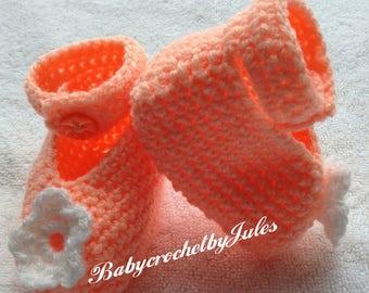 Crochet Baby Shoes, Baby Girl Gift, Baby Girl Shoes, New Baby Girl, Baby Shower Gift, NewBorn Photo Prop, Baby Crochet Booties, Newborn Gift