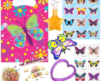 Pre Filled Butterfly Party Bag with FREE downloadable party games