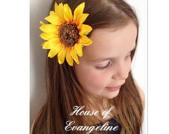 Sunflower Hair Clips/Hair accessories/Pinup/Festivals.Ref:056