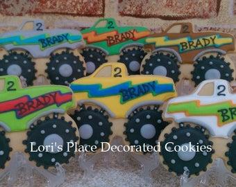 Monster Truck Cookies - 12 Cookies