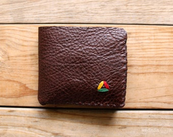 Irie Two Tone Compact Deerskin Leather Wallet