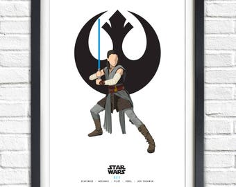 Star Wars - Solo Series - Rey - 19x13 Poster