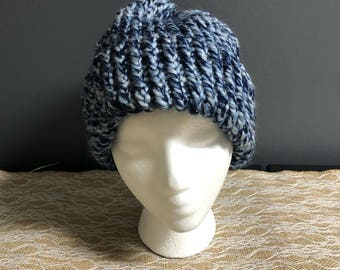 Light blue, dark blue and white tricolored hat