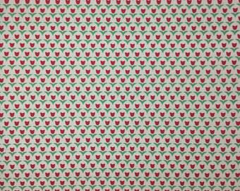 Kokka Fabric - Echino - Linen/Canvas - Pink Tulips - by the yard