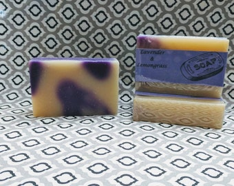 Lavender and Lemongrass Cold Process Soap All Natural