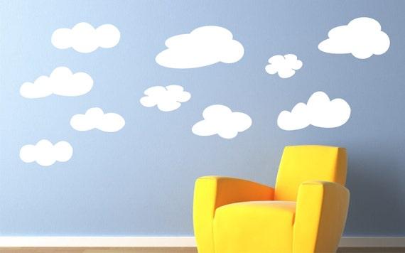 Cloud Wall Decals Cloud Decals Clouds Vinyl Wall Art - Nursery wall decals clouds