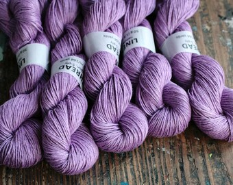 Linen yarn -- lavender lilac -- 5-ply - Light Fingering