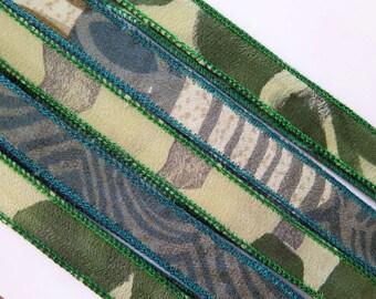Silk Ribbon, Silk Bracelet, W546