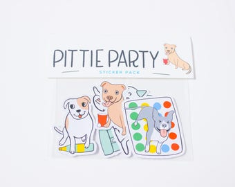 Pit Bull Stickers / Dog Stickers / Pit Bulls / Pit Bull Art / Pittie Stickers / Laptop Stickers / Pit Bull Mom / Pit Bull Gift / Pitties