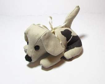 Doggy Desk Buddy, Paperweight, Office, Dog, Animal, Quirky, Handmade, Fabric, Desk mate