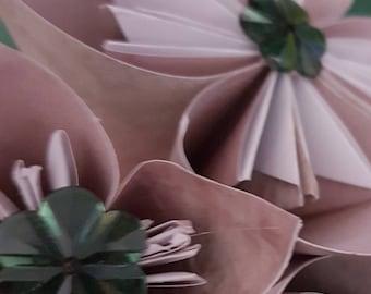 Shabby Chic Handmade Paper Flowers - Botanical Garden Collection