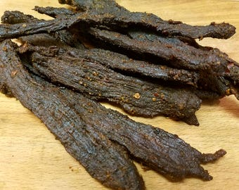 Beef Jerky(1 lb)- tender gourmet smoked jerky, great crafted snack, protein boost, all natural. Great gift idea! Great Fathers day gift!