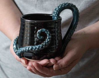 Coffee Mug With Octopus Tentacles