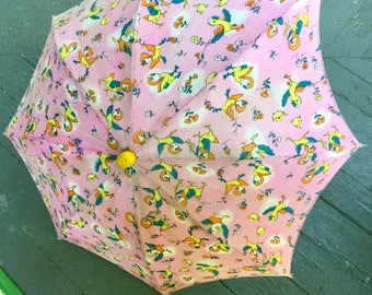 Vintage Cloth Child's Parasol