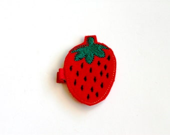 Strawberry Felt Hair Clip