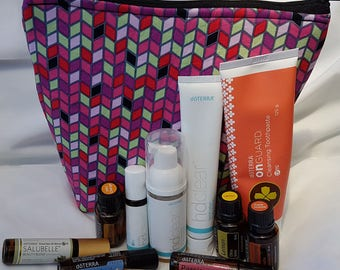 Essential Oil Padded doTERRA Verage or doTERRA HD Clear Toiletry Travel Bag