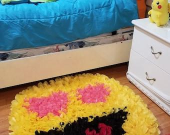 Emoji rug kid's room decor