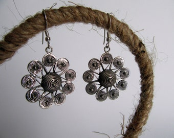Charming Silver Earrings from India