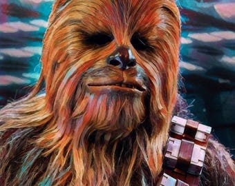"""Aluminium metal wall art """"Chewbacca"""""""