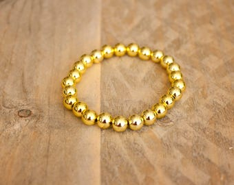 Silver/Gold bead bracelet