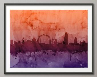 London Skyline, London Cityscape England, Art Print (987)
