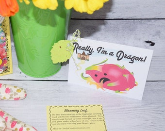 Gift Card - REALLY, I'm a Dragon Card - Vegetarian Funny - Greeting Card