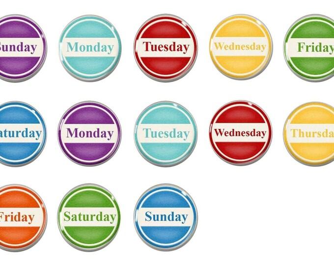 Perpetual Calendar Magnet Set - Months of the year - Classroom Calendar - Homeschool - Teacher Gift - Chalkboard Magnets - Calendar Magnets