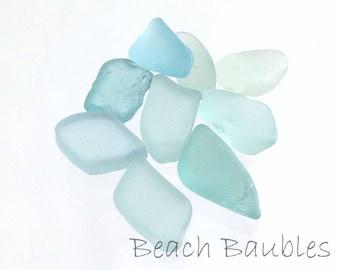 Sea Glass Photography Print, Aqua Beach Decor, Sea Glass Print, Cottage Decor, Print and Matted, Made in Hawaii