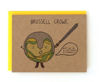 Brussell Crowe Gladiator Holiday Card