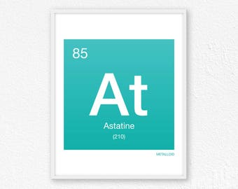 85 Astatine, Periodic Table Element | Periodic Table of Elements, Science Wall Art, Science Poster, Science Print, Science Gift