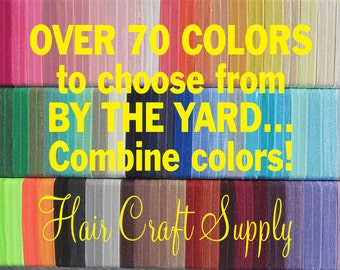 """FOE Choose 1 Yard Elastic from assorted colors for Headbands, Hair Ties, Shiny 5/8"""" inch, Satin Elastic Soft, 15mm wide by Hair Craft Supply"""