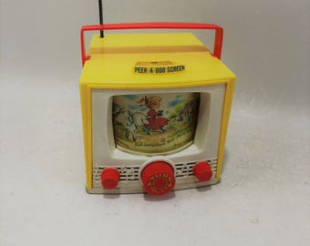 Vintage Fisher Price Peek a Boo Music Box, Mary Had A Little Lamb, 1965