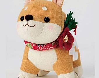 DIY Brown shiba inu hand-stitched hand sewing cloth material Kit PA-755 Japanese Craft Kit