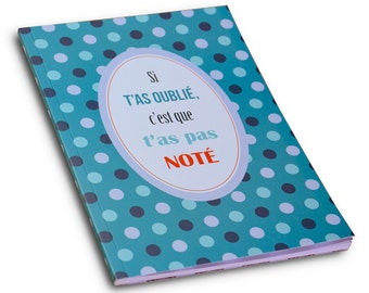 A5 notebook - If you forget what you did not notice