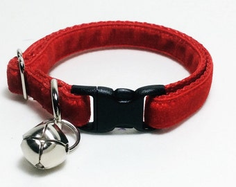 Velvet Cat Collar (multiple colours)
