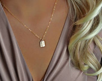 Initial Necklace, mom necklace, kids initials, gift for mom, new mom gift, gold necklace, gold initial necklace, gold mom necklace