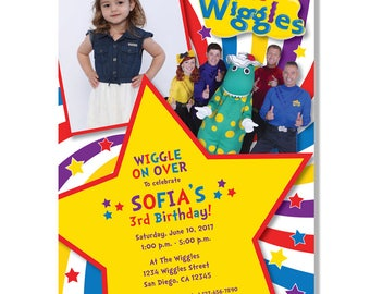 Wiggles Birthday Invitations - Digital File