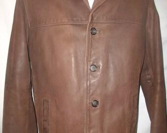 Adventure Bound Wilsons Men's Leather Jacket Sz M