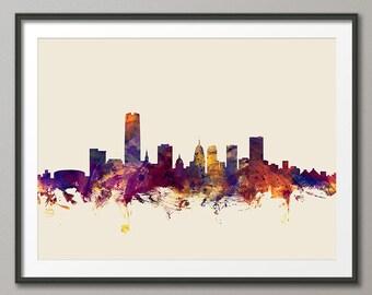 Oklahoma City Skyline Cityscape, Art Print (1833)