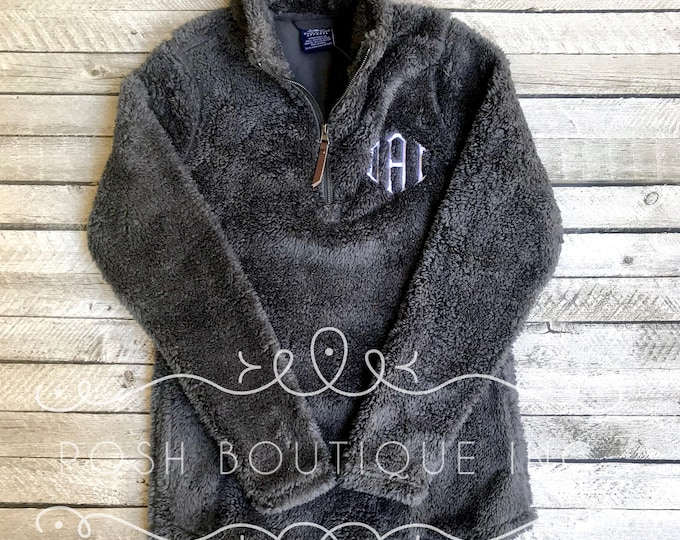 Monogrammed Sherpa Pullover, Men's Newport Fleece Quarter Zip Pullover, Charles River Quarter Zip Pullover, Gifts for Him