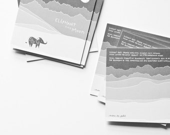 Elephant and Moon // Illustrated book for children and adults